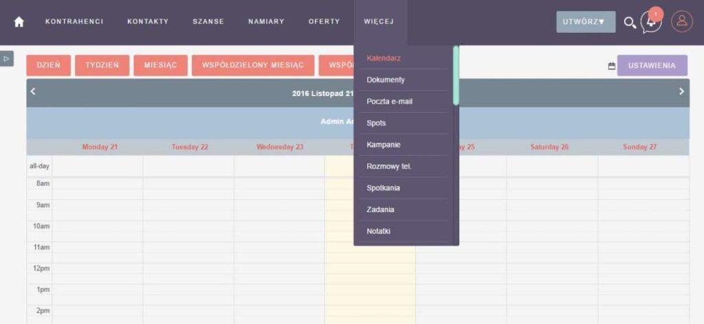 suitecrm kalendarz